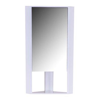 Homcom 25cm x 75cm Corner Mount Mirror Cabinet