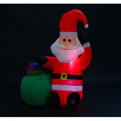 Homcom Christmas Santa Claus Inflatable Decoration