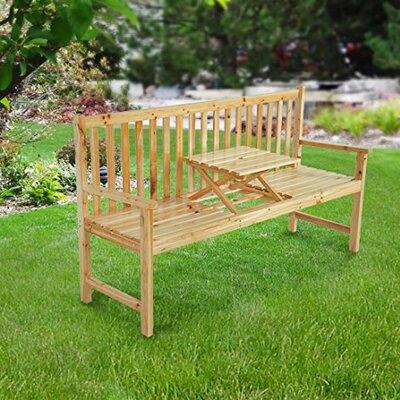Homcom 3 Seater Wooden Bench