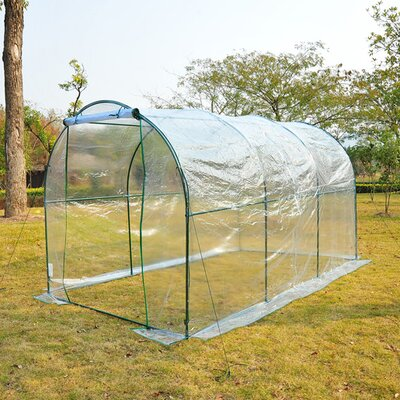 Homcom Poly Tunnel Greenhouse in Green