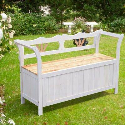 Homcom Garden Patio Wooden Storage Bench