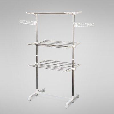 Homcom Folding Clothes Rail Adjustable Valet Stand