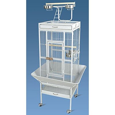 Homcom Pawhut Large Aviary Coop Wire Mesh Breeding Cage with Castors