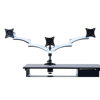 Homcom Triple LED/LCD/TV Cantilever Tilting Arm Table Mount Bracket Computer Monitor Stand