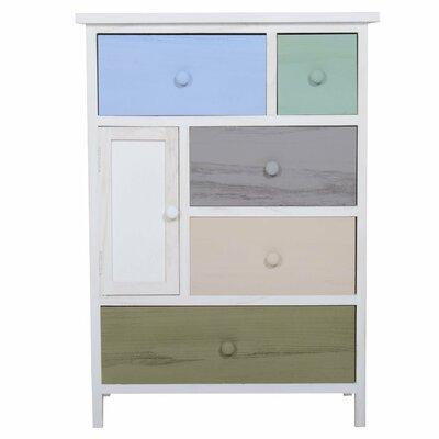 Homcom 1 Door 5 Drawer Cabinet