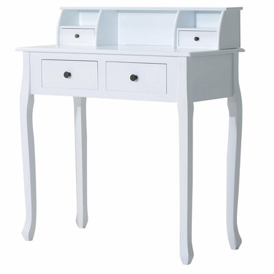Homcom Makeup Dividers Console Cosmetic Storage Dressing Table