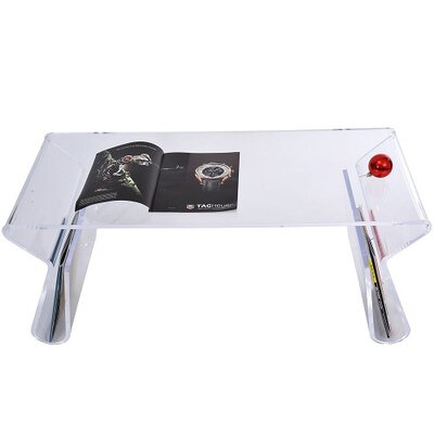 Homcom Coffee Table with Magazine Rack
