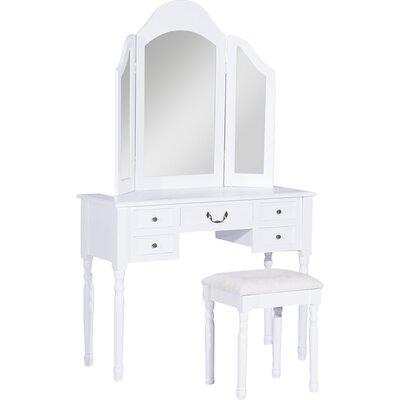 Homcom Dressing Table Set with Mirror