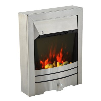 Homcom Stainless Steel Electric Fireplace