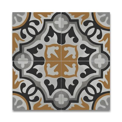 "Baha 8"" x 8"" Handmade Cement Tile in Multi-Color"