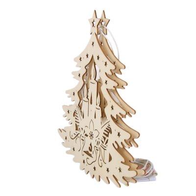 LandwoodFurniture Weihnachtsleuchte Tannenbaum