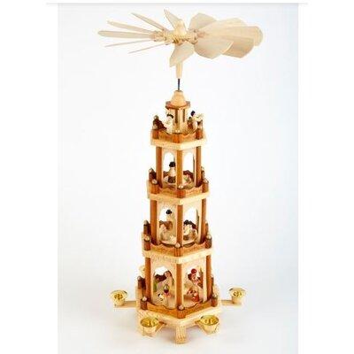 LandwoodFurniture Weihnachtspyramide mit 4 Etagen