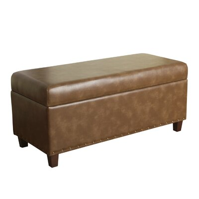 Branford Faux Leather Storage Bench Upholstery Color: Molasses