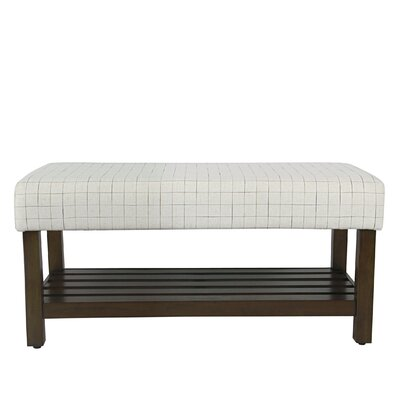 Perry Windowpane Decorative Upholstered Bench