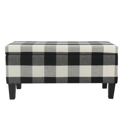 Shetye Decorative Upholstered Storage Bench Upholstery: Black