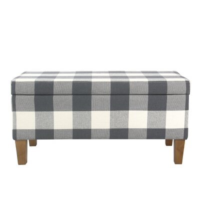 Shetye Decorative Upholstered Storage Bench Upholstery: Blue