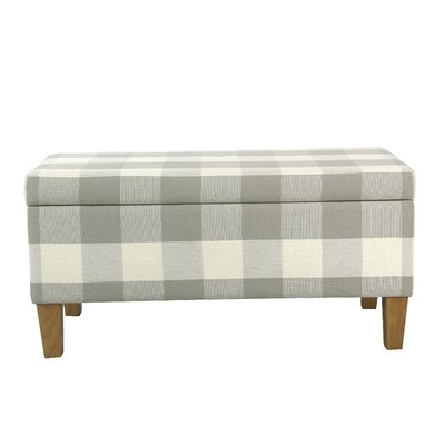 Shetye Decorative Upholstered Storage Bench Upholstery: Gray