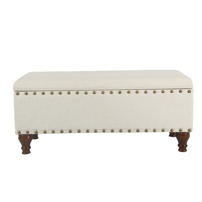 Sasha Upholstered Storage Bench Upholstery: Cream