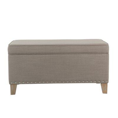 Farrier Upholstered Storage Bench Upholstery: Tan