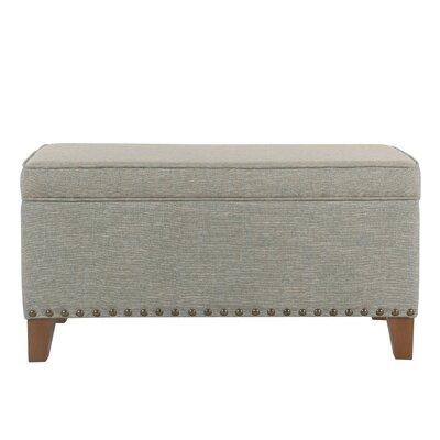 Farrier Upholstered Storage Bench Upholstery: Vapor Teal
