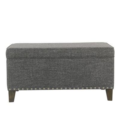 Farrier Upholstered Storage Bench Upholstery: Slate Gray