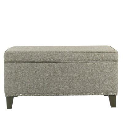 Farrier Upholstered Storage Bench Upholstery: Sterling Gray
