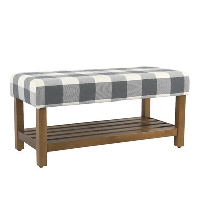 Prudhomme Decorative Upholstered Storage Bench Color: Blue