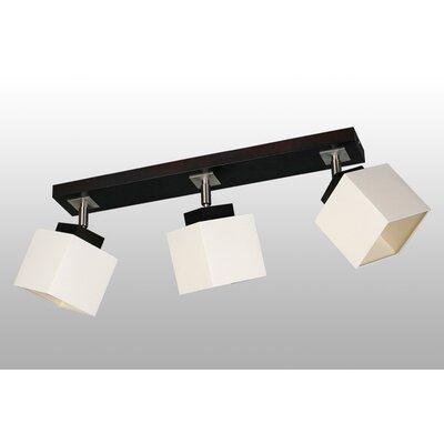 Lampex Volles Schienenbeleuchtungsset 3-flammig Nelio