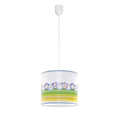 Lampex Trommel-Pendelleuchte 1-flammig Floral