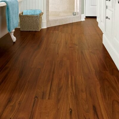 """Armstrong Luxe Exotic Fruitwood 5"""" x 48"""" x 4.06mm Luxury Vinyl Plank in Persimmon"""