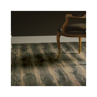"""Architectural Remnants 8"""" x 48"""" x 12mm Oak Laminate Flooring in Blackened Natural"""