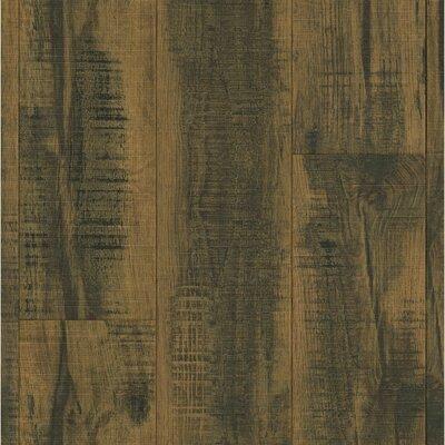 "Architectural Remnant/Salvage 7.6"" x 47.83"" x 12mm Luxury Vinyl Laminate Flooring in Brown"