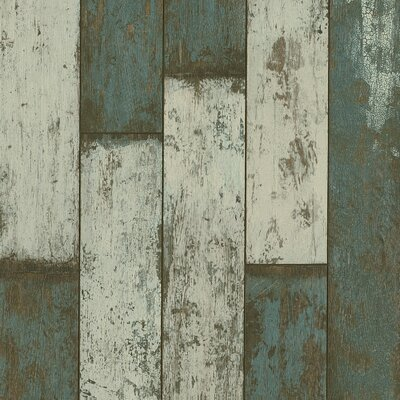 """Architectural Remnants 4.92"""" x 47.84"""" x 12mm Hickory Laminate in Sea Glass Teal"""