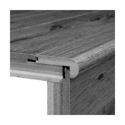 "Bruce Flooring 0.75"" x 3.13"" x 78"" Red Oak Stair Nose in Antique Rustic"