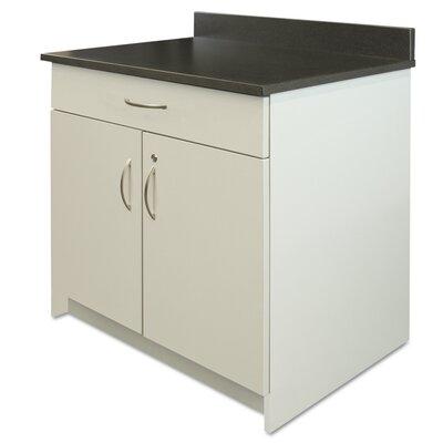 Plus 2 Door Storage Cabinet Finish: Gray / Granite Nebula