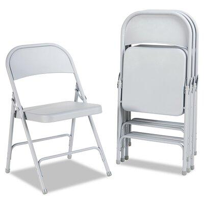 Metal Folding Chair Color: Light Gray