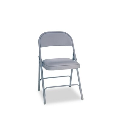 Fabric Padded Folding Chair Color: Light Gray