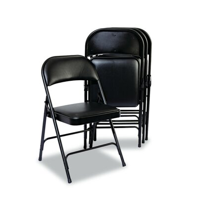 Steel Folding Chair with Padded Back and Seat