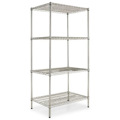 "72"" H x 36"" W Industrial Heavy-Duty Wire Shelving Unit Starter Finish: Silver"