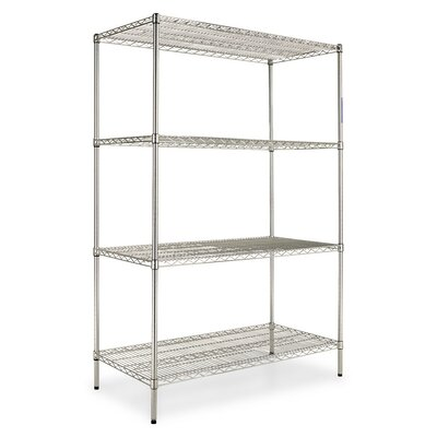 "72"" H x 48"" W Industrial Shelf Shelving Unit Starter Finish: Silver"