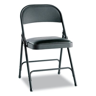 Fabric Padded Folding Chair Color: Graphite