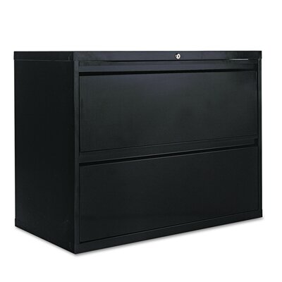 2-Drawer Lateral Filing Cabinet Finish: Black