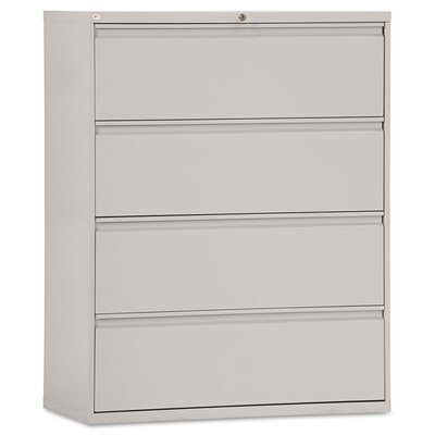 4-Drawer Lateral Filing Cabinet Finish: Light Gray