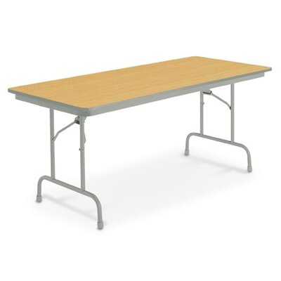 """Heritage Rectangular Folding Table Finish: English Oak, Size: 24"""" x 72"""""""