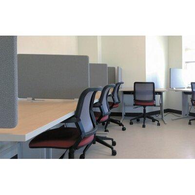 "WorkZone 19"" x 48"" Desk Privacy Panel Trim Finish: Warm Grey, Fabric Finish: Granite"