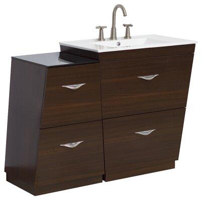 "44"" Single Bathroom Vanity Set Faucet Mount: 8"" Off Center, Hardware Finish: Chrome"