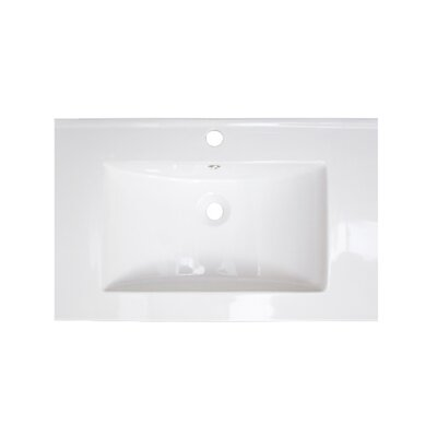 "24"" Single Bathroom Vanity Top Hardware Finish: Chrome"