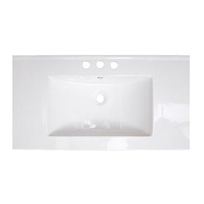 "32"" Single Bathroom Vanity Top Hardware Finish: Chrome"