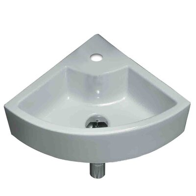 Ceramic Specialty Wall-Mount Bathroom Sink Hardware Finish: Chrome