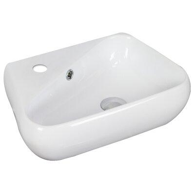 Specialty Ceramic Specialty Vessel Bathroom Sink with Overflow